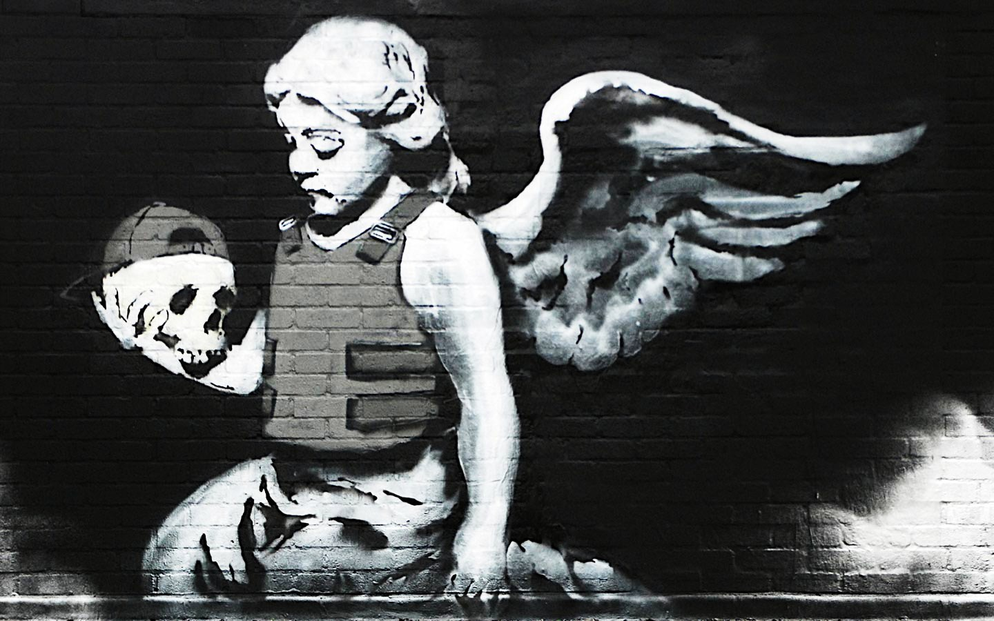 Banksy Angel of Death