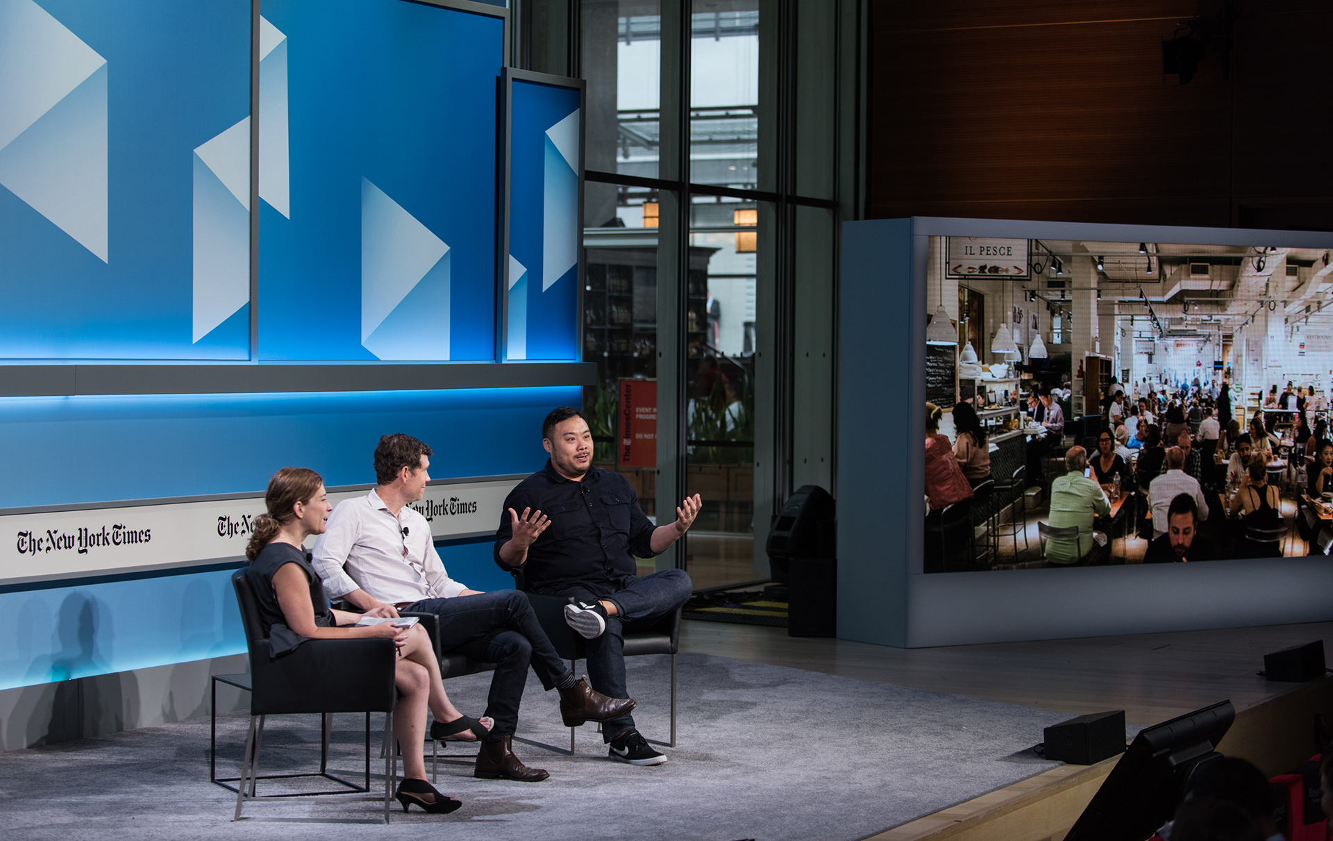 David Chang on Stage at the New York Times Conference