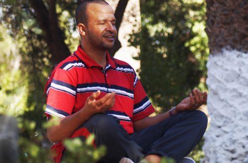 Man Meditating Outdoors