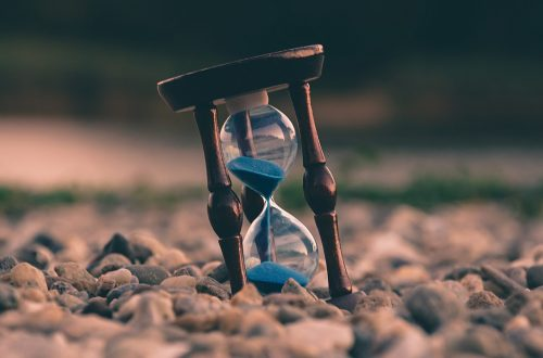 Sand through and Hourglass
