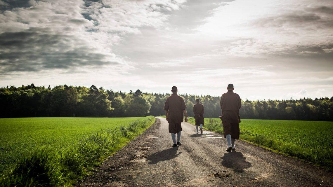 Buddhist Monks on Path