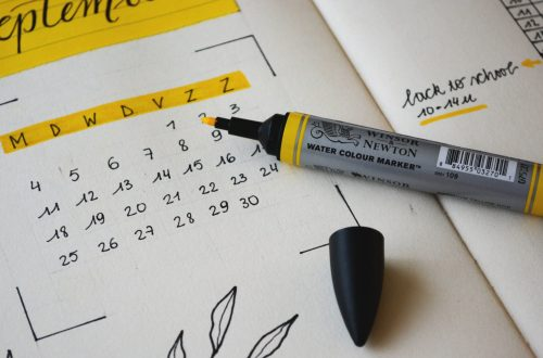 Calendar Marked with Highlighter
